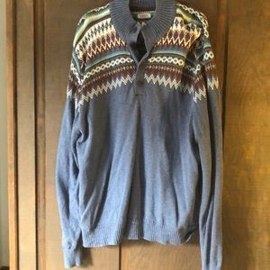 Barely Worn Blue Izod Pull Over Sweater